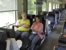 Silvia Aebi und Erich Senn, vorherige und jetziger Präsident/in des Schweizer Kneipp Verbandes